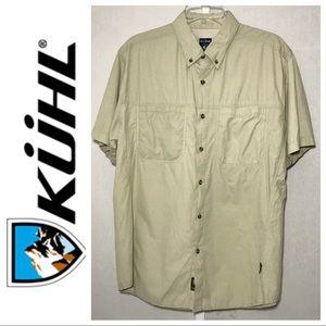 Kuhl Men's Tan Button Front Shirt L